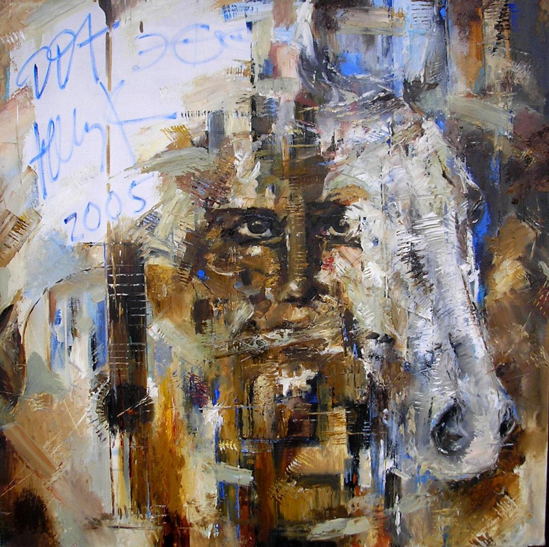 """""""Концерт DDT"""", Финат Набиуллин, 2005, холст, масло, 80х80"""