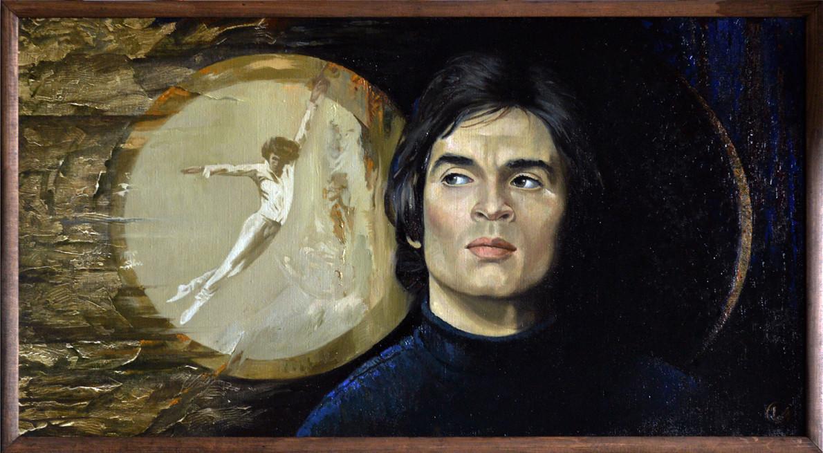 """""""Полет. Р.Нуриев"""", Вакиль Шайхетдинов, 2009, холст, масло"""