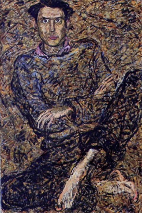 """""""Портрет художника Амира Мазитова"""", Рамиля Мухамедьярова-Гордеева, 1999, холст, масло, 151х100"""