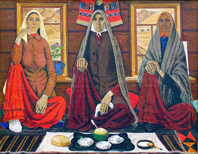 «Три женщины», Ахмат Лутфуллин (1928-2007) Фонд БГХ музея им. М. В. Нестерова