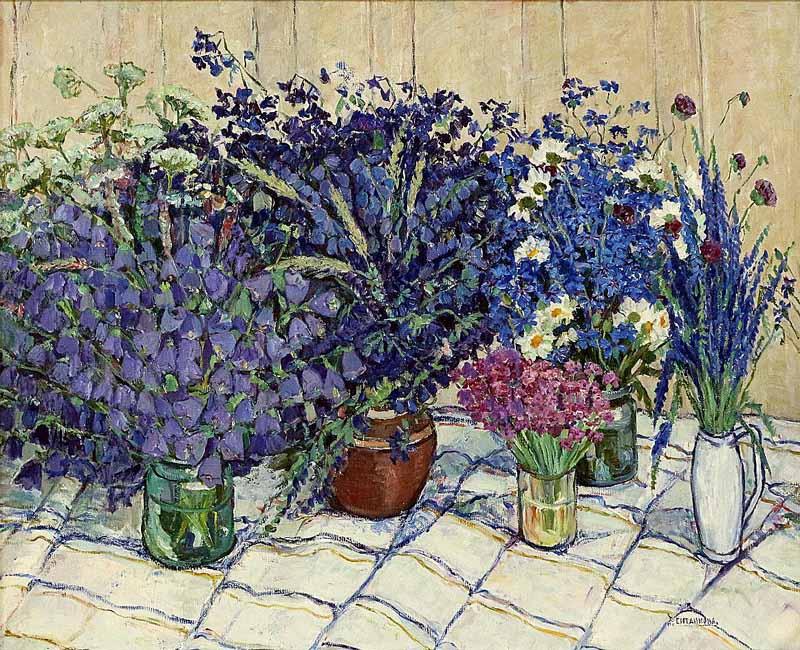 «Полевые цветы», холст, масло. Адия Ситдикова (1913-2000) Фонд БГХ музея им. М. В. Нестерова