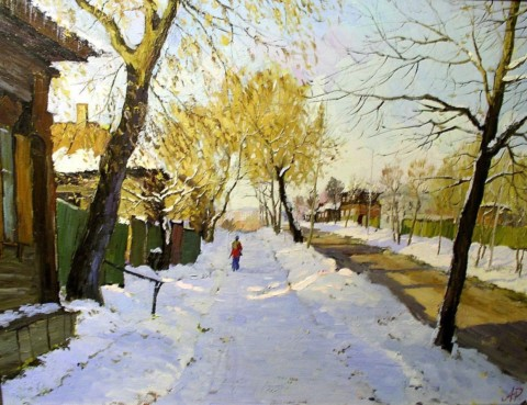 «Улочки Уфы», Ралиф Ахметшин, 2002, холст, масло