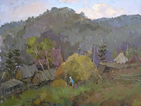 «Уборка сена», Ралиф Ахметшин, 2014, холст, масло