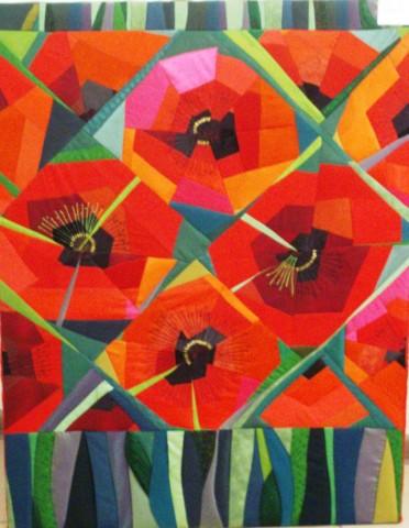 «Маки», Стелла Маркова, 2006, текстиль, лоскутное шитье, 87х60