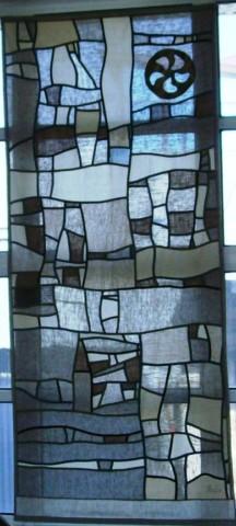«Колесо», Стелла Маркова, 2012, текстиль, лоскутное шитье, 340х150