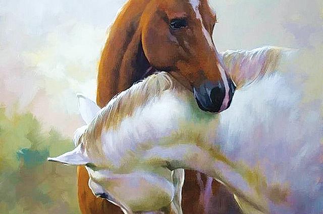 «Лошади», Алмаз Мурзакамалов, лауреат проекта «Любимые художники Башкирии»