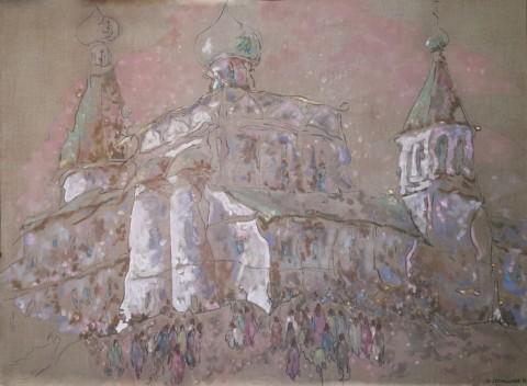«Всенощное бдение», Виктор Домашников, 2013, холст, масло, 95.5х130