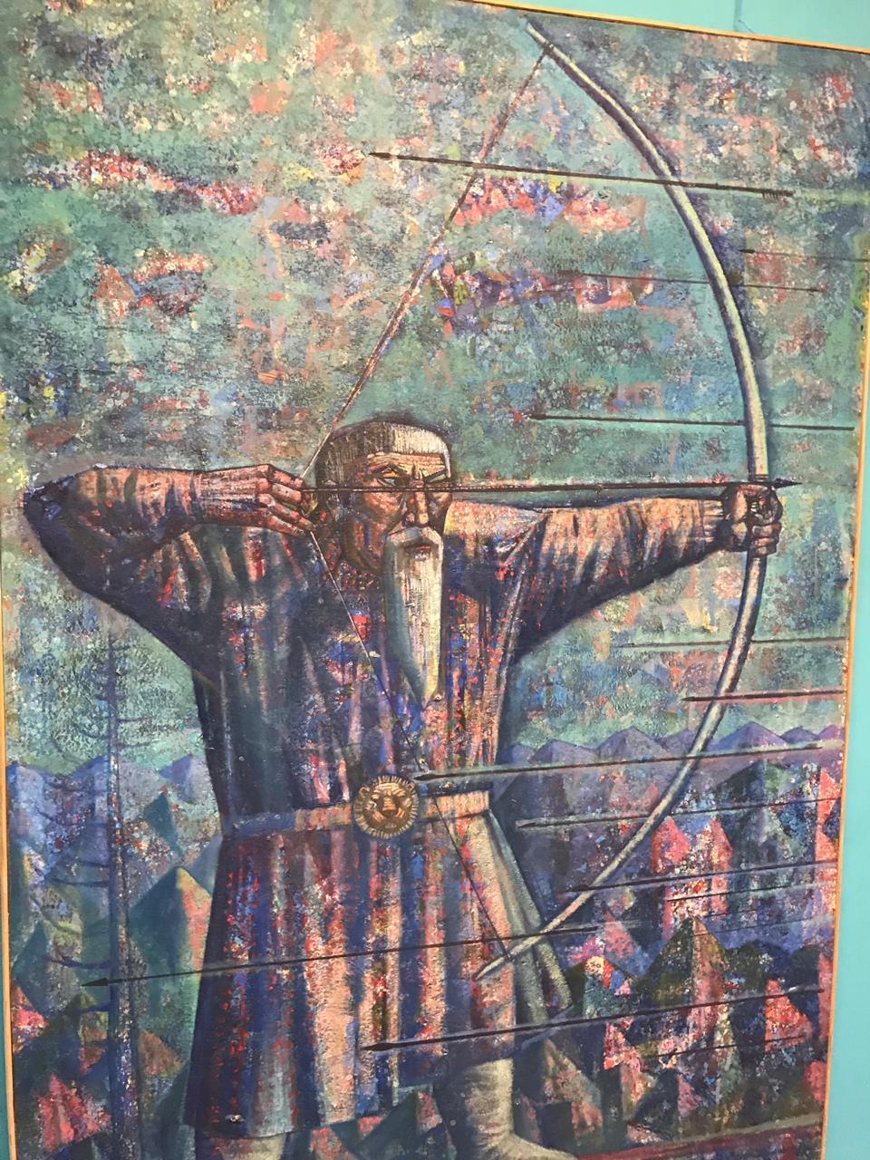 Открытие персональной юбилейной выставки башкирского художника Джалиля Сулейманова