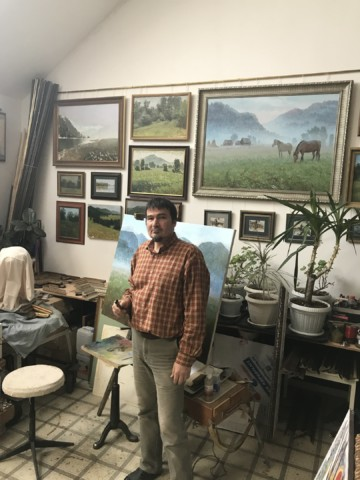 В гостях у башкирского художника Рината Ахметова