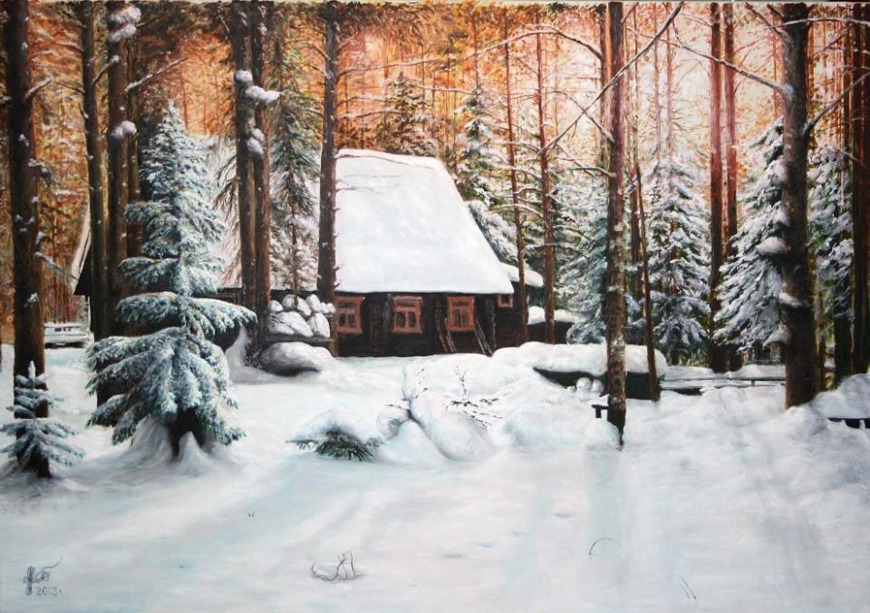«Зима», Рауфат Нигматуллин, 2013, холст, масло