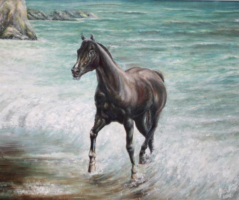 «Конь», Рауфат Нигматуллин, 2012, холст, масло