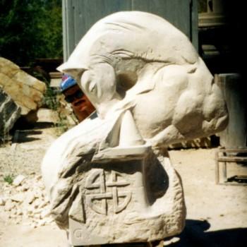 «Ход конем» (парковая скульптура), Ильшат Гилязов