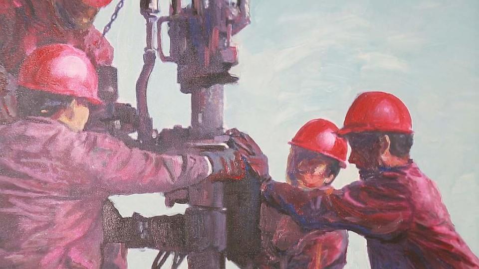 Уфимец Марсель Шайдуллин рисует картины нефтью