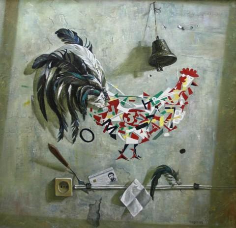 «Петушиный хвост», Вагиз Шайхетдинов, 2003, холст, масло, 78х80