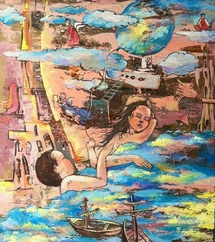 «Сон», Рушания Бадретдинова, 110х100, х.м