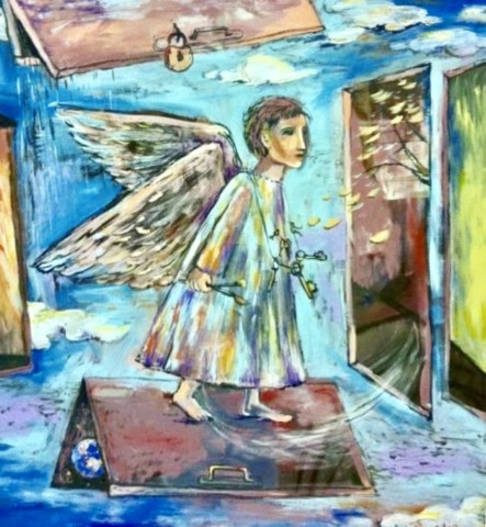 «Ангел», Рушания Бадретдинова, 130х120, х.м