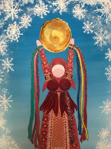 «Искусство оберега»: выставка и мастер-класс художницы Елены Макаровой