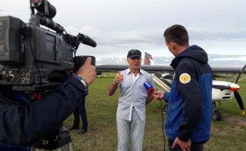 Магомед Толбоев на открытии второго этапа слета «Открытое небо» в Первушино