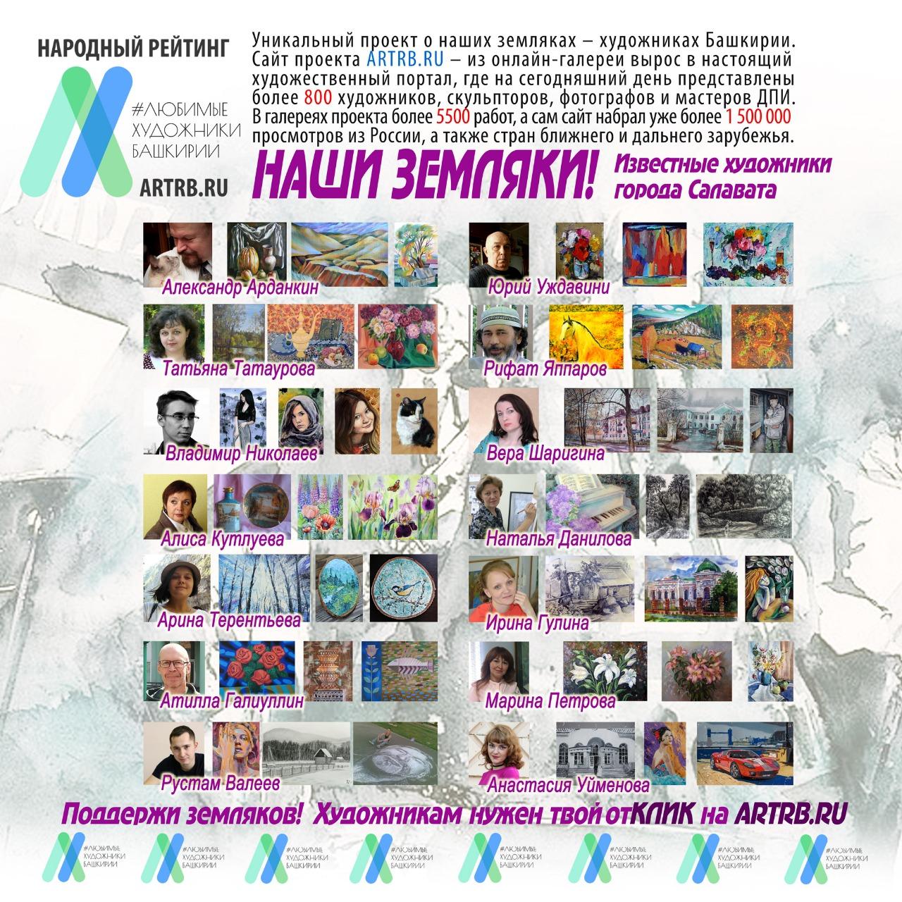 Художественный тур проекта «Любимые художники Башкирии» – встреча в городе Салават!