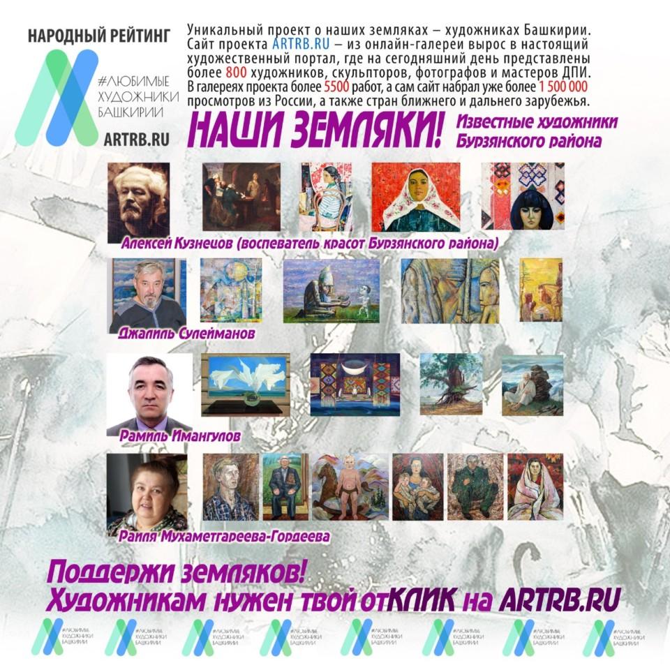 Художественный тур проекта «Любимые художники Башкирии» – встреча в Бурзяне!