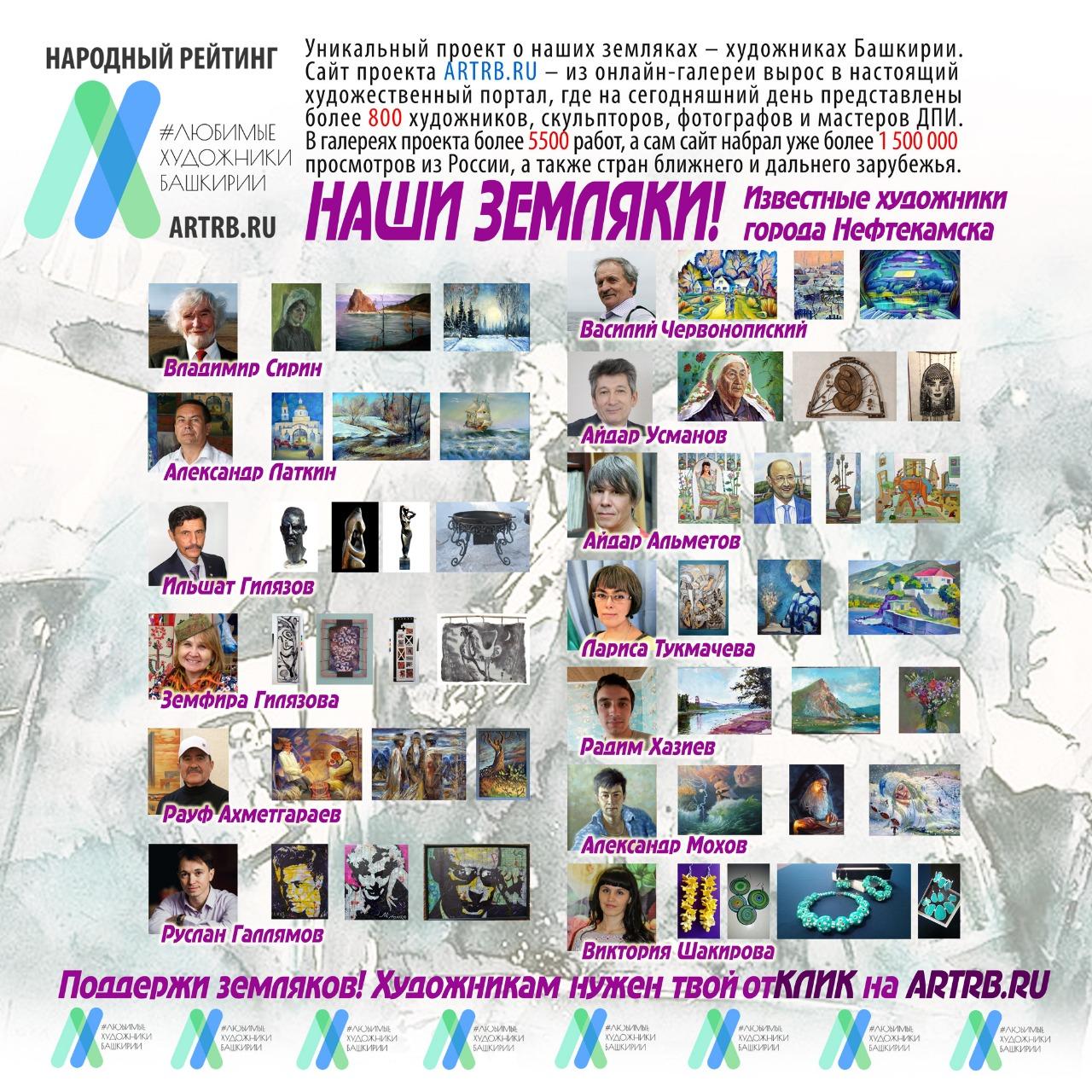 Художественный тур проекта «Любимые художники Башкирии» – встреча в городе Нефтекамск!