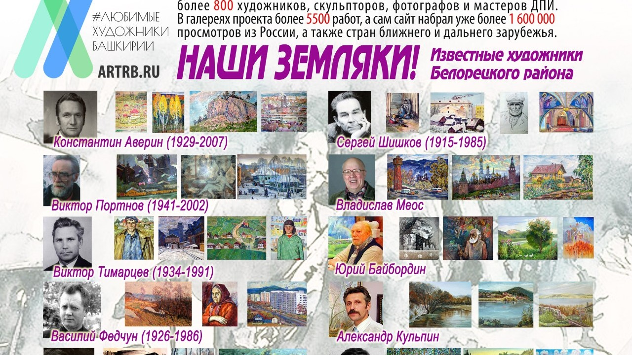 Художественный тур проекта «Любимые художники Башкирии» – встреча в Белорецке!