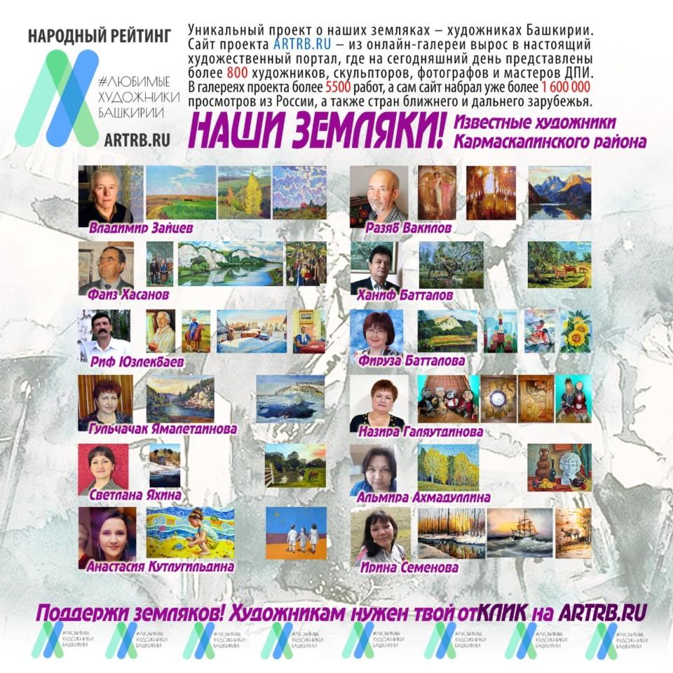 Художественный тур проекта «Любимые художники Башкирии» – встреча в Кармаскалах!