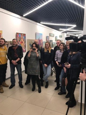 На открытии отчетной выставки Творческого союза художников Башкирии