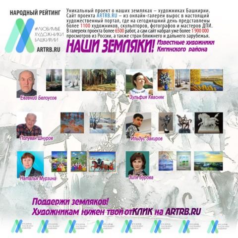 Художественный тур проекта «Любимые художники Башкирии» – встреча в Кигинском районе!