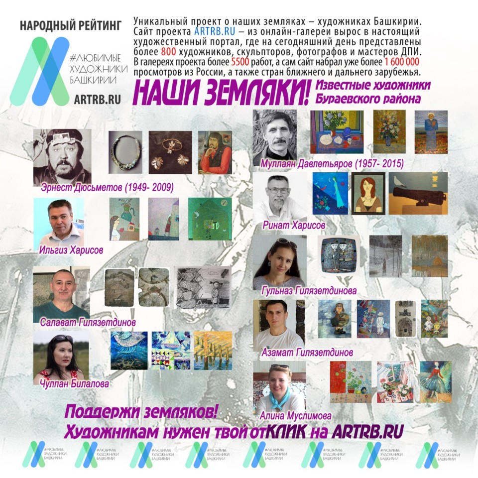 Художественный тур проекта «Любимые художники Башкирии» – встреча в Бураевском районе!