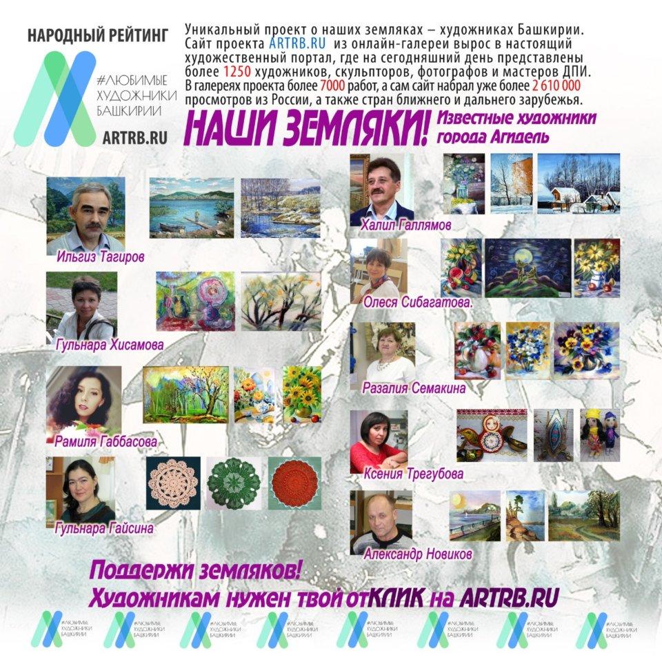 Художественный тур проекта «Любимые художники Башкирии» – встреча в городе Агидель!