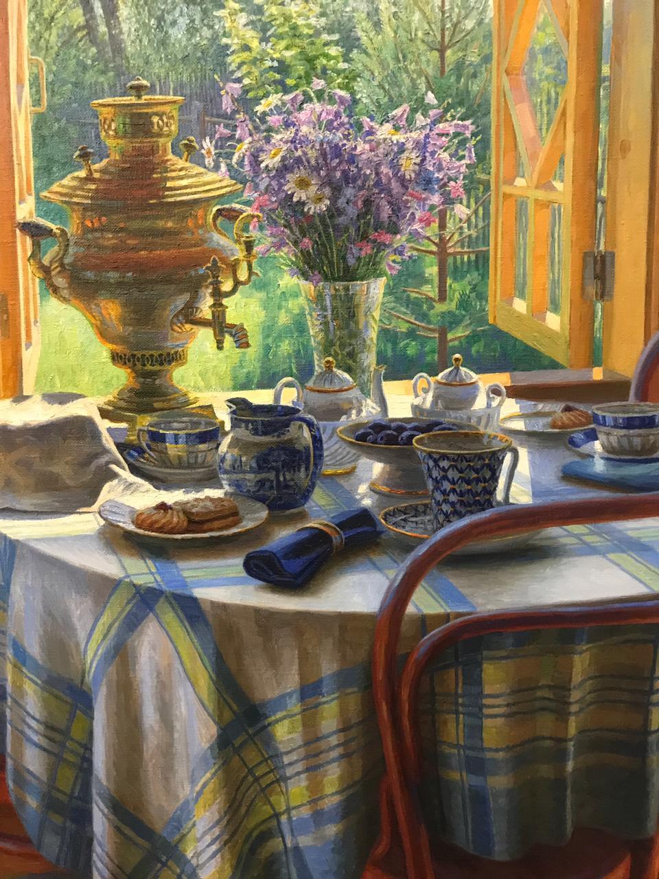 На открытии персональной выставки башкирского художника Рашита Хабирова