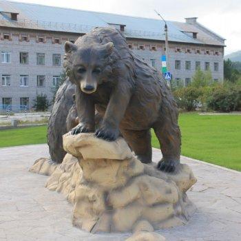 Городская садовая композиция «Таежные медведи», Александр Ёлкин