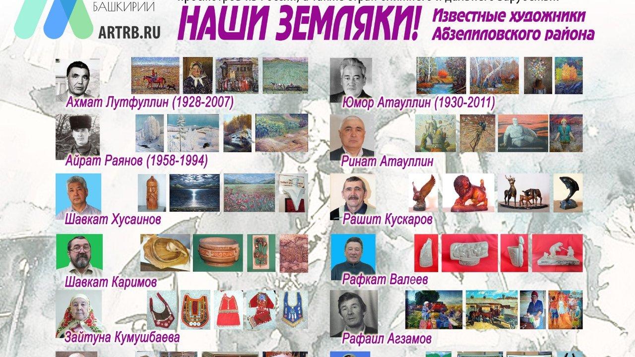 Художественный тур проекта «Любимые художники Башкирии» – встреча в Абзелиловском районе!
