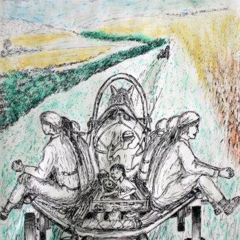 «Воз матерей с детьми на сенокос (1948-1949гг.)», Габид Гималов