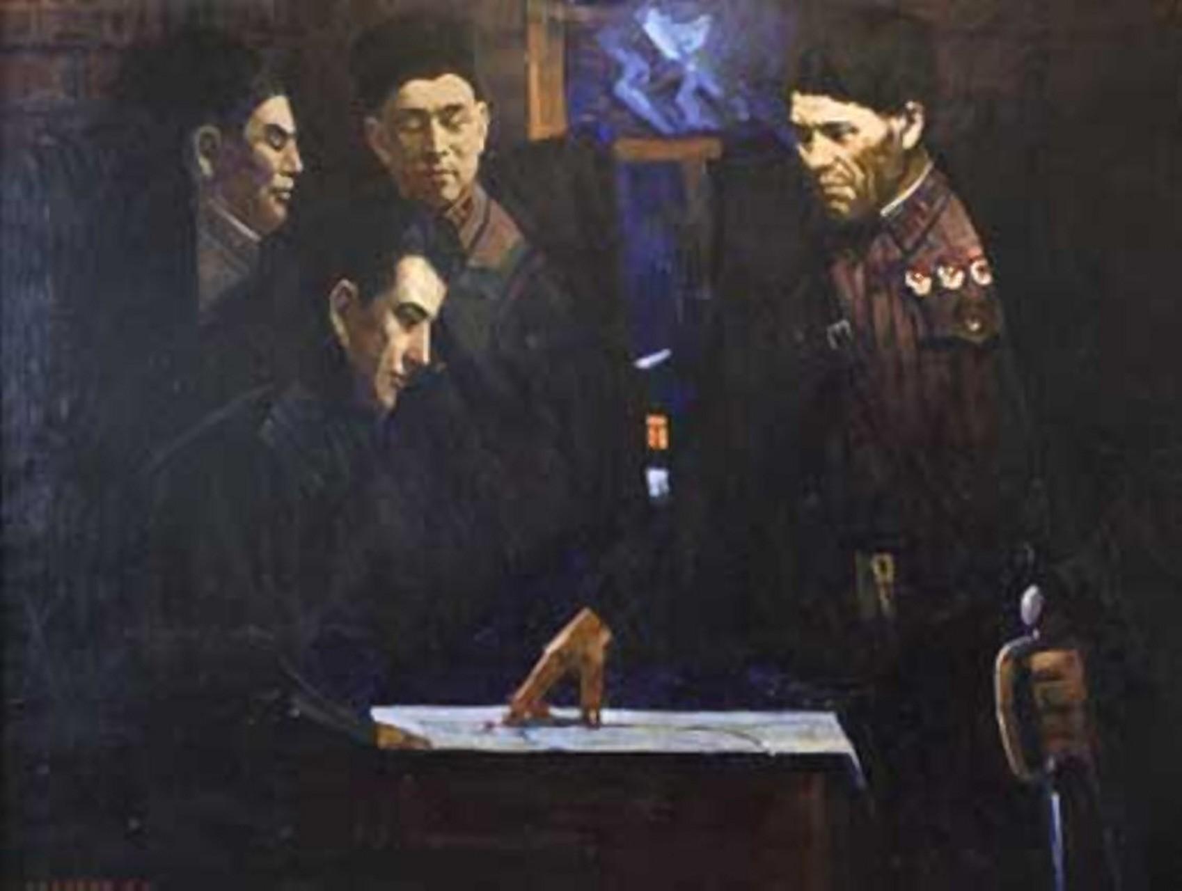 «В штабе дивизии М. Шаймуратова», Григорий Круглов