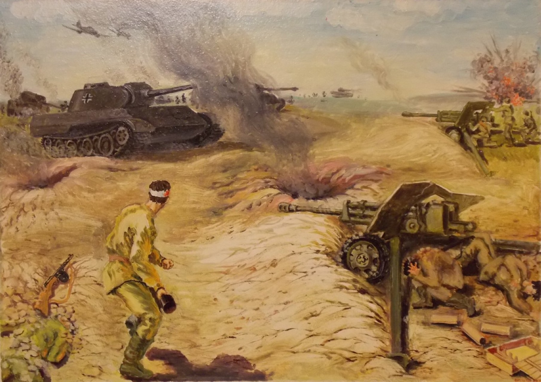 «Бой Абдуллина А.А. у д. Клепы 21 августа 1944 года», Рустем Саттаров