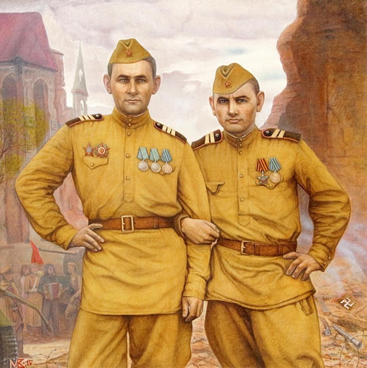 «Боевые друзья победители Весна 1945», Мэлс Вафин
