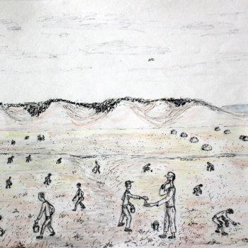 «Сбор колосьев в поле после уроков. 1947 год, д. Мечетлино», Габид Гималов