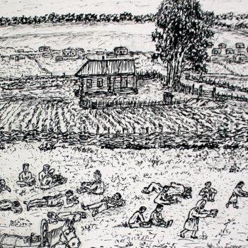 «Отдых арестованных людей (1944-1945 гг.)», Габид Гималов
