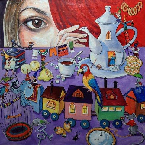 Выставка картин «Мир детства» в ГКЗ «Башкортостан»