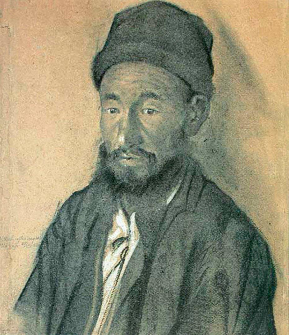«Башкир Ибрагим», Касим Девлеткильдеев, 1928, бумага, уголь, белила, 45х36