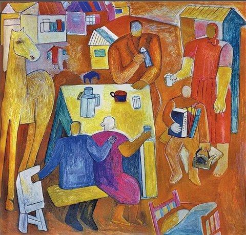 «Базар. Мясо», Михаил Назаров, 1966, холст, масло