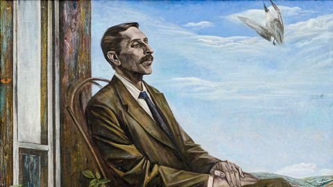 «Портрет К.С. Девлеткильдеева», Урал Мухаметшин, 1981, холст, масло