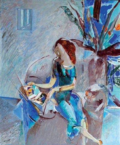 «Девушка с книгой», Расих Ахметвалиев, 2016, холст, масло