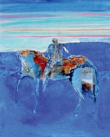 «Зимний всадник», Расих Ахметвалиев, 2016, холст, масло