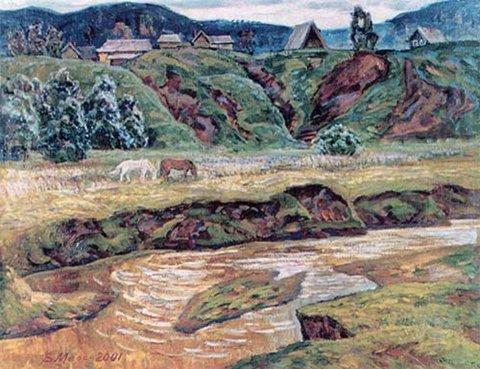 «Летом на Усолке», Владислав Меос, 2001, холст, масло