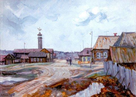 «Зилаир. Пожарный переулок», Владислав Меос, 1978, холст, масло