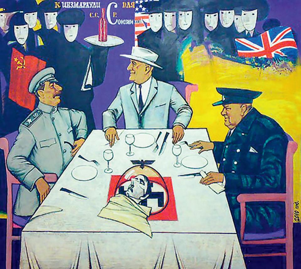 «Киндзмараули для союзников», Георгий Калитов, 2010, холст, акрил