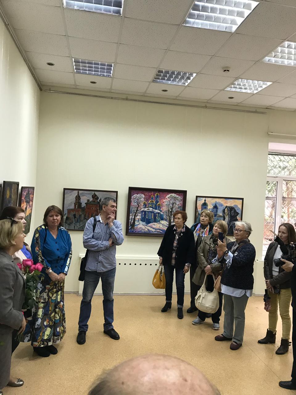 Открытие персональной выставки Анжелики Фуфаевой